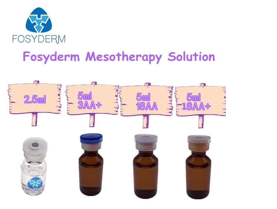 Ride de solution de Mesotherapy de sérum de Fosyderm 5ml ha anti- et blanchiment