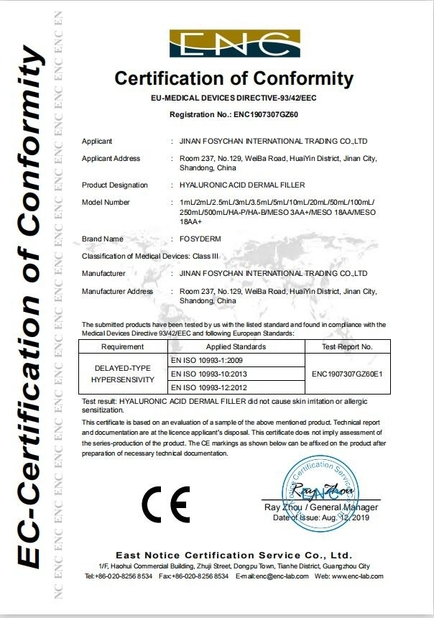 Chine Jinan Fosychan International Trading Co., Ltd. certifications
